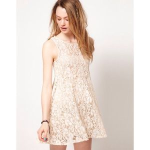 NWT Free People Miles of Lace Tank Dress